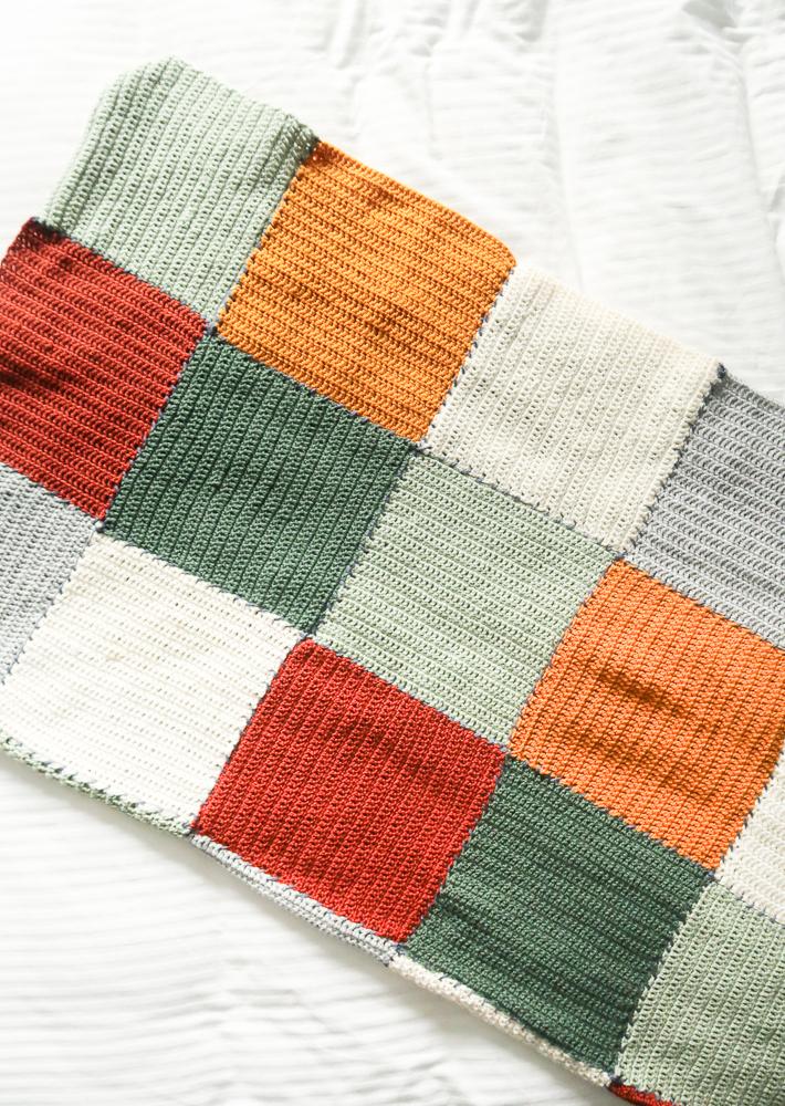 Easy beginner crochet blanket pattern