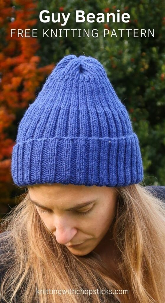 guy beanie free knit hat pattern