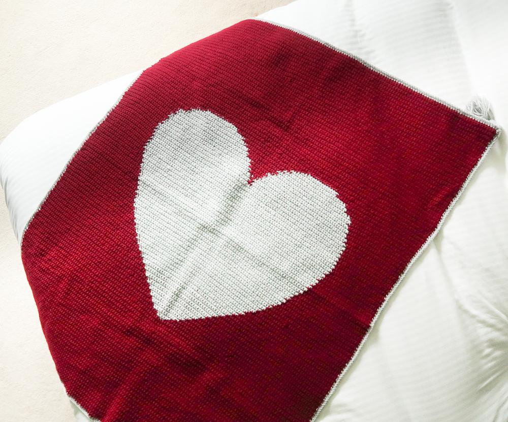free heart crochet blanket