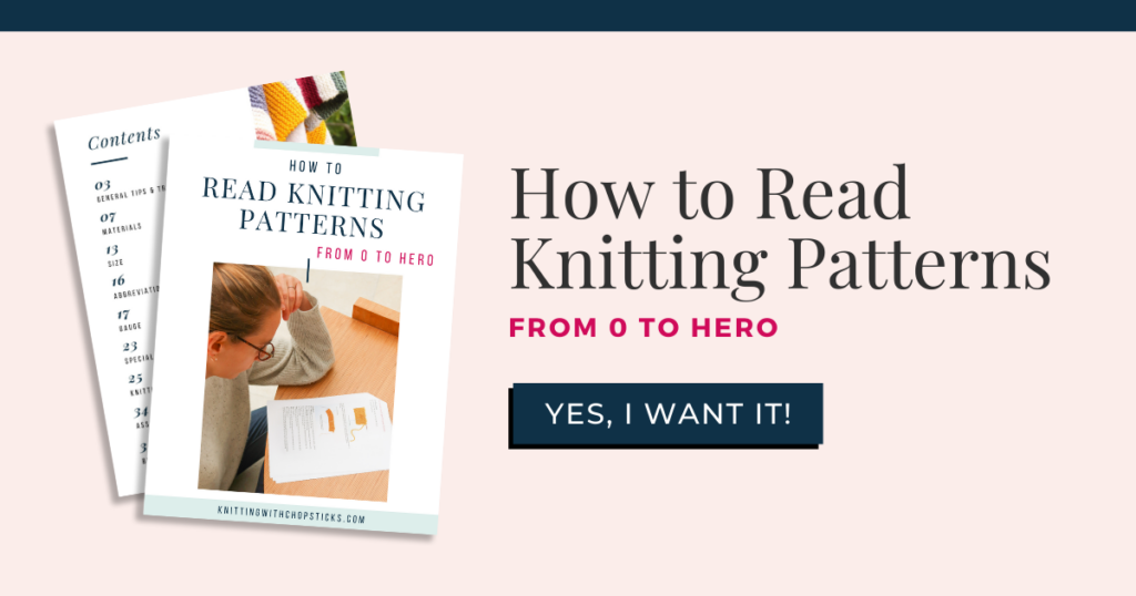 how to read knitting patterns ebook