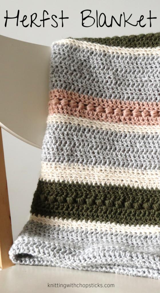 herfrst blanket easy crochet blanket pattern