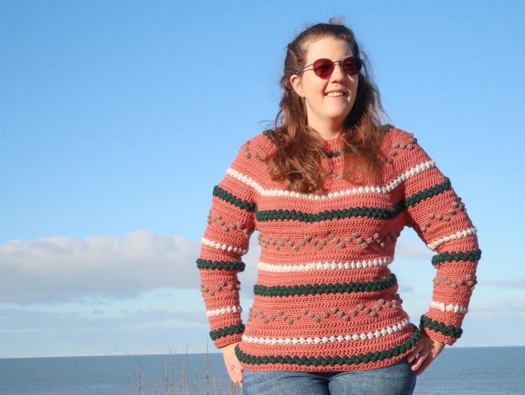 bumpy sweater free crochet sweater pattern in the round
