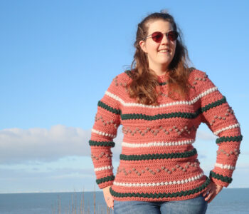 bumpy sweater free crochet sweater pattern in the round