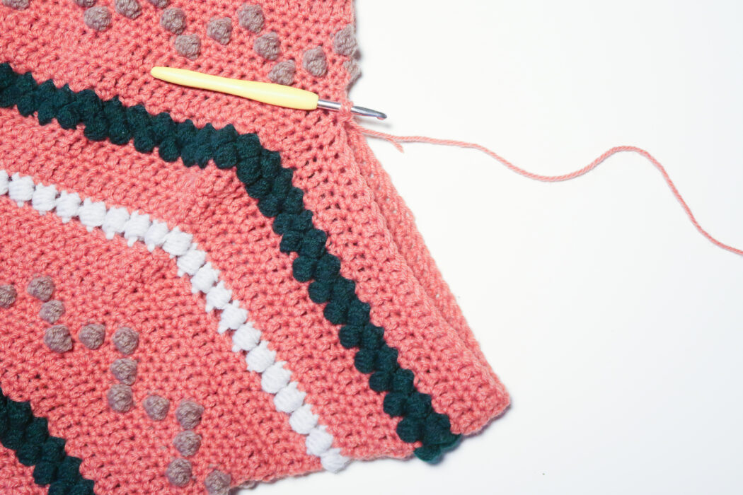adding sleeves to the bumpy sweater free crochet sweater pattern