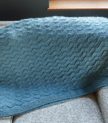 waves free knit blanket pattern