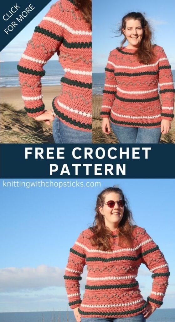 Crochet Bobble Sweater Pattern FREE