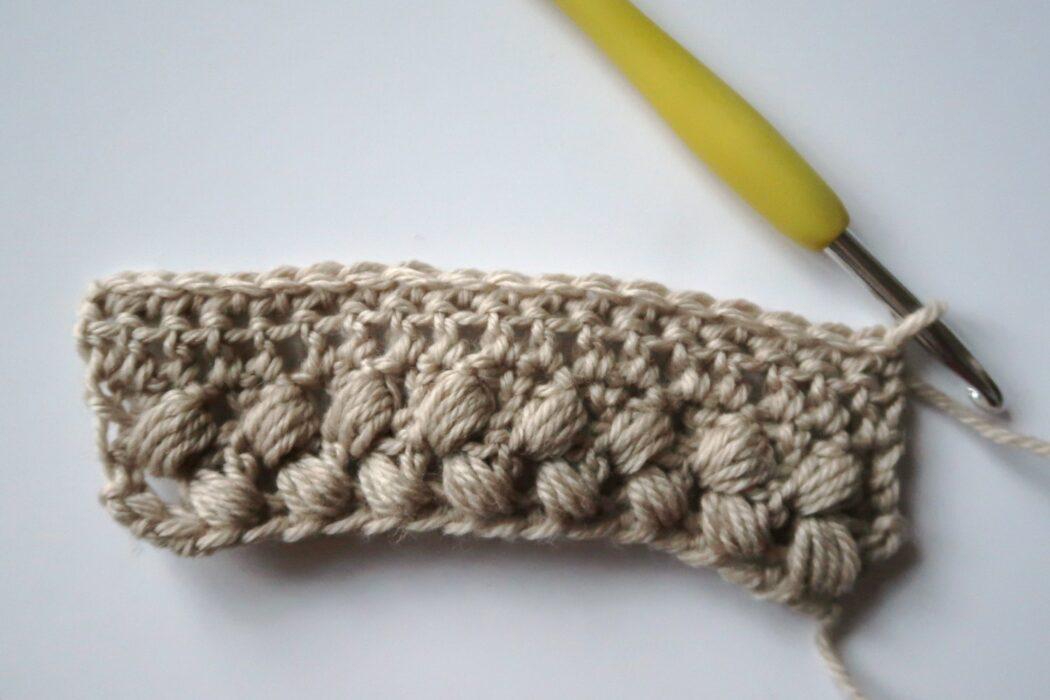 braided puff crochet stitch tutorial step 6