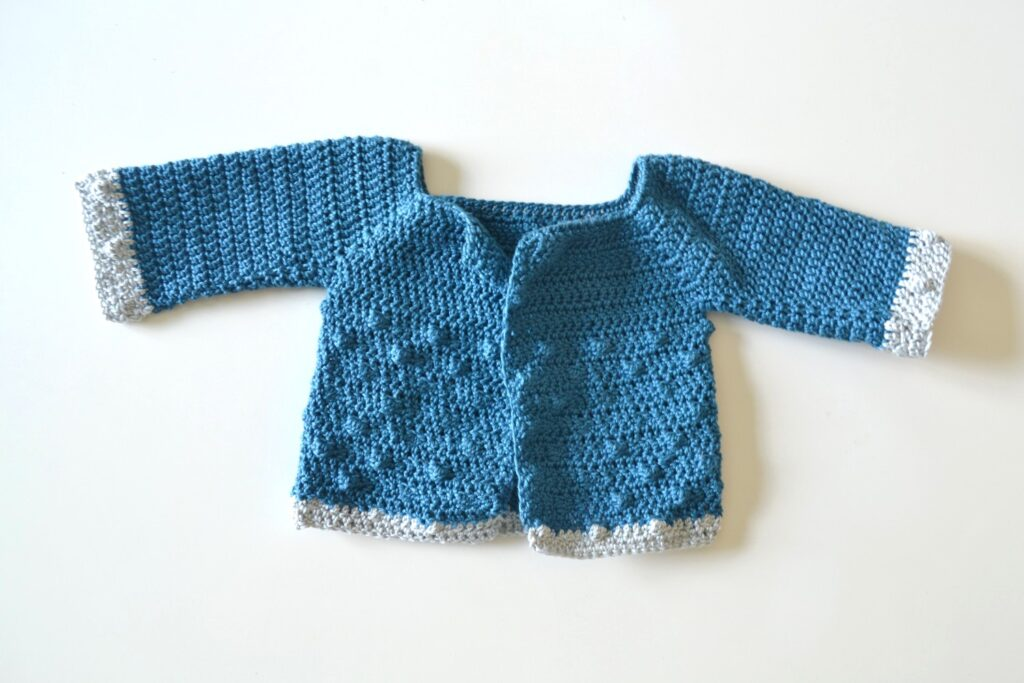 finished baby crochet cardigan pattern