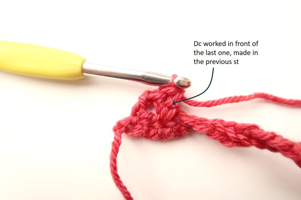 diamond crochet stitch tutorial step 3
