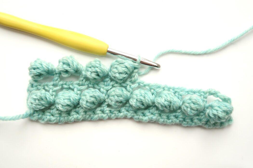 floating bobbles crochet stitch tutorial step 3