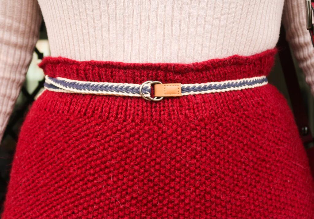 Sydney knit skirt belt section