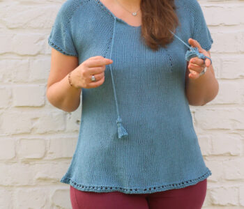 Summer top knitting pattern