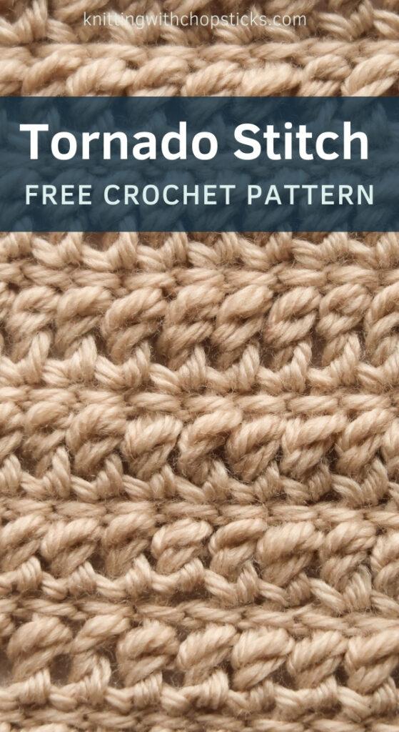 Tornado Crochet Blanket Stitch Pattern