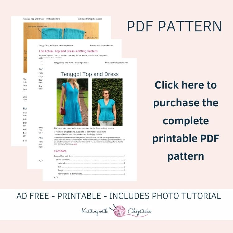 Click here to purchase the downloadable printable PDF version of the Tenggol Top & Dress pattern