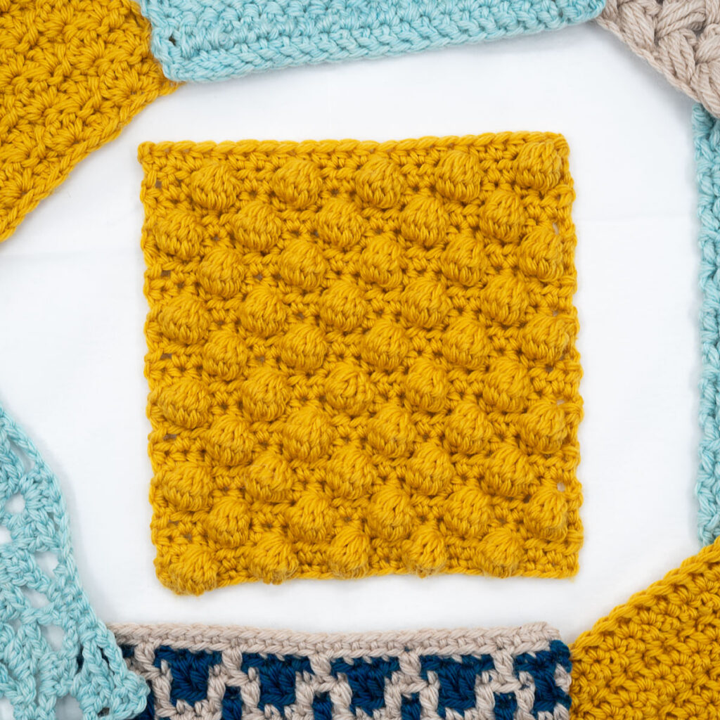 Bobble crochet stitch tutorial