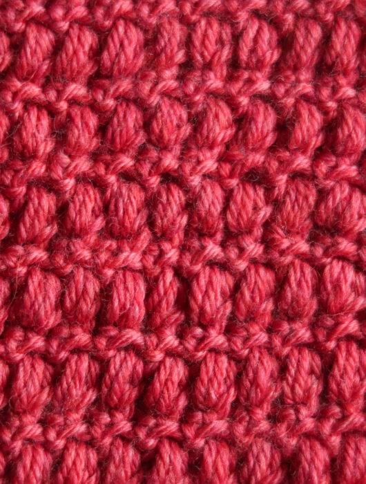 mini puff crochet stitch pattern