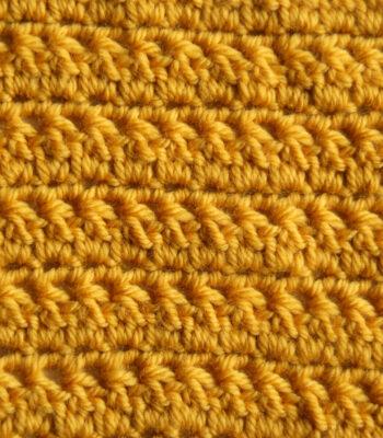 Increase decrease easy crochet stitch for blanket