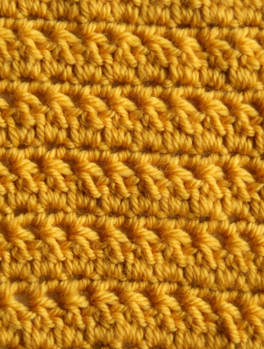 Increase decrease easy crochet stitch for blanket