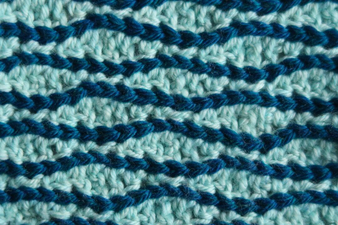 Accordion Multicolor crochet stitch pattern