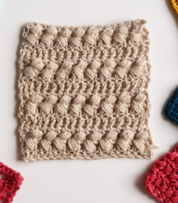 Braided puff stitch crochet pattern