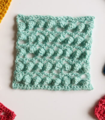 floating bobbles and lace crochet stitch pattern