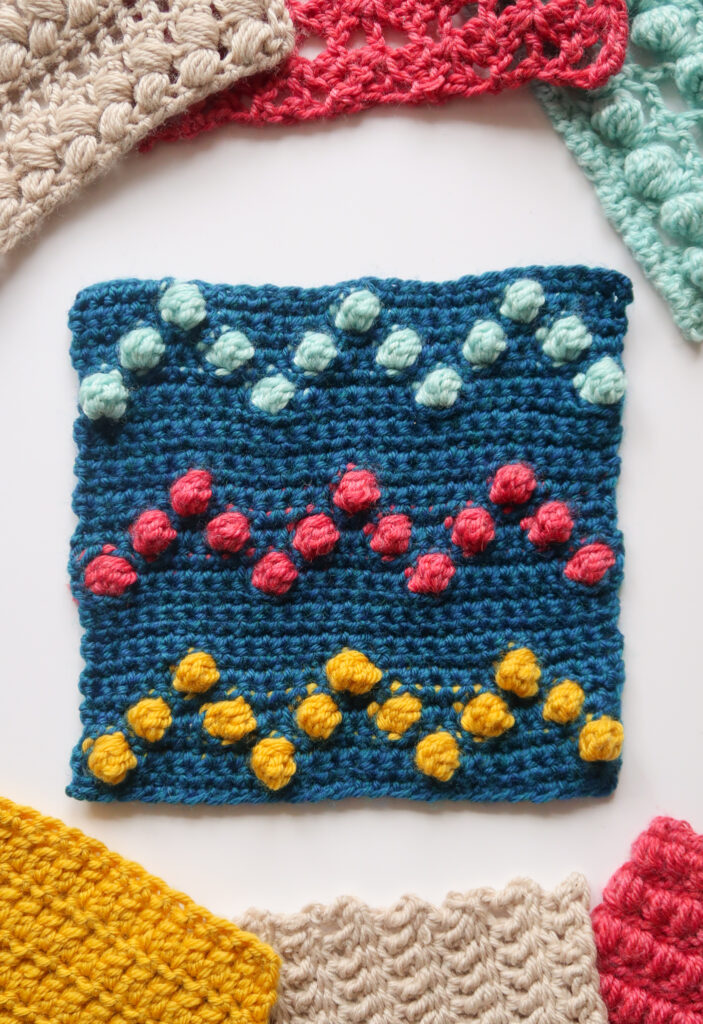 Bobble chevron crochet stitch pattern