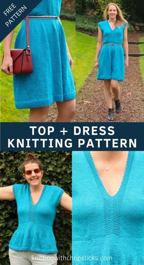 Free Top and Dress knitting pattern
