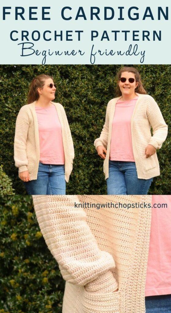 Easy crochet cardigan pattern FREE