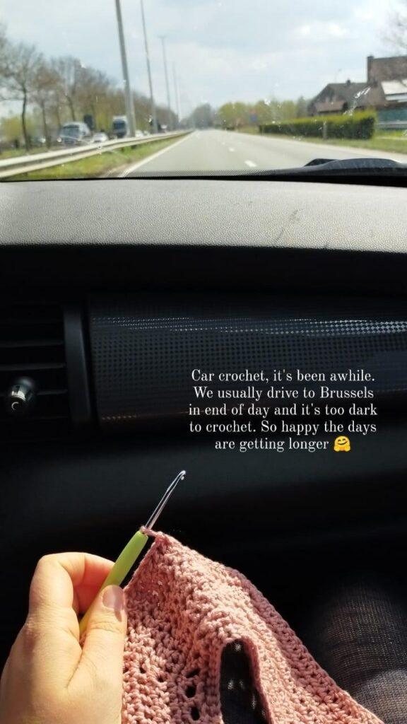 crochet in the car