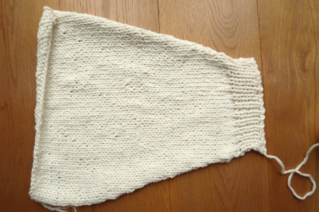 Complete knit cardigan sleeve