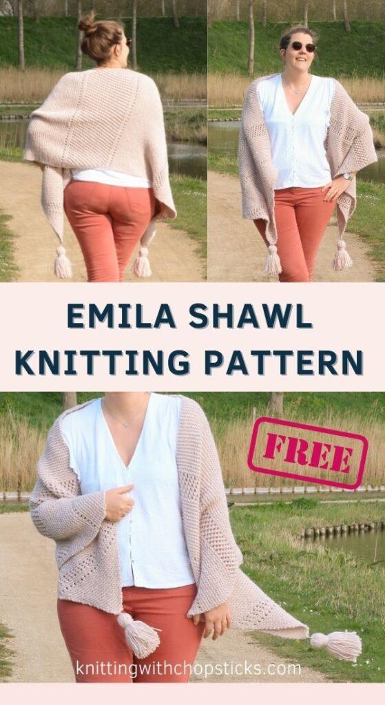 Emilia Shawl Knitting Pattern FREE