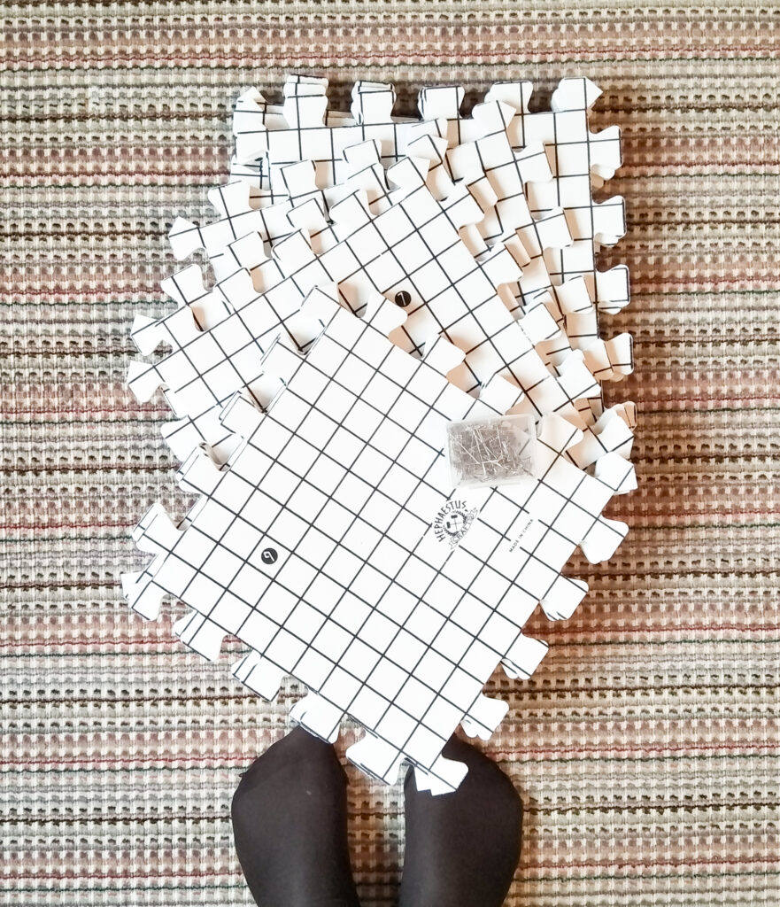 Blocking boards with ruler lines