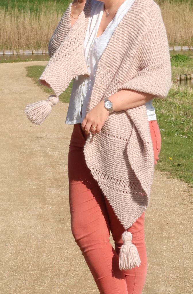 Easy knit wrap pattern