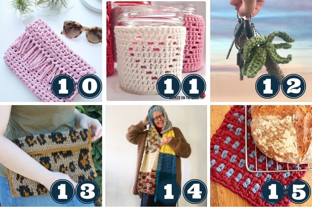 leftover yarn project ideas week 1 patterns 10 to 15