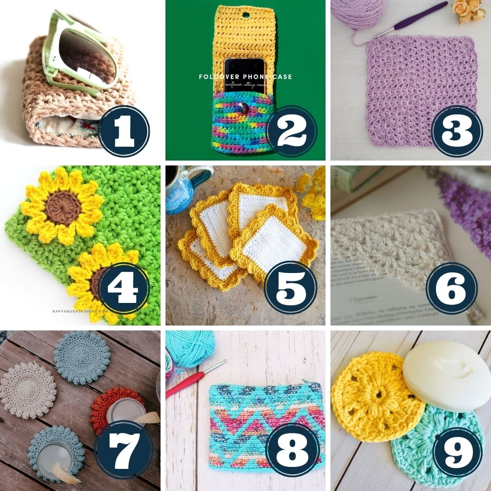 leftover yarn project ideas week 1 patterns 1 to 9
