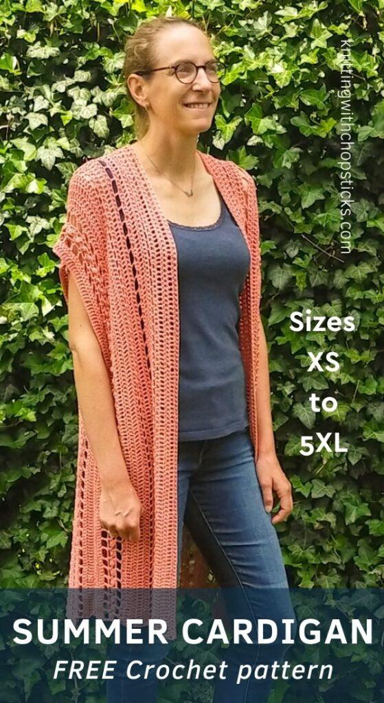 Free crochet cardigan pattern for summer - The Ariel Cardigan