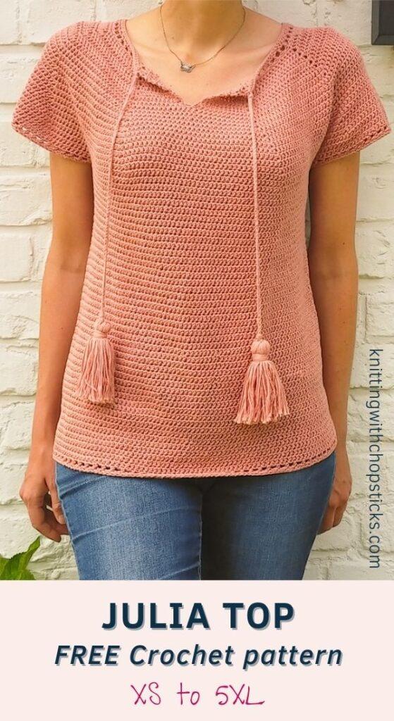 Summer Top Crochet Pattern FREE - Julia Top