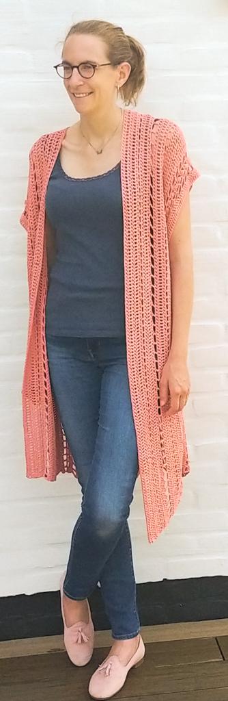 Finished Ariel crochet beach coverup pattern