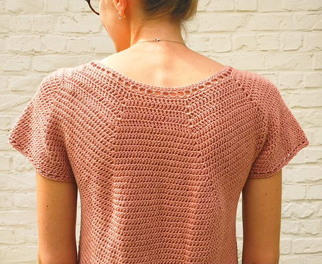 Back of the summer top crochet pattern free