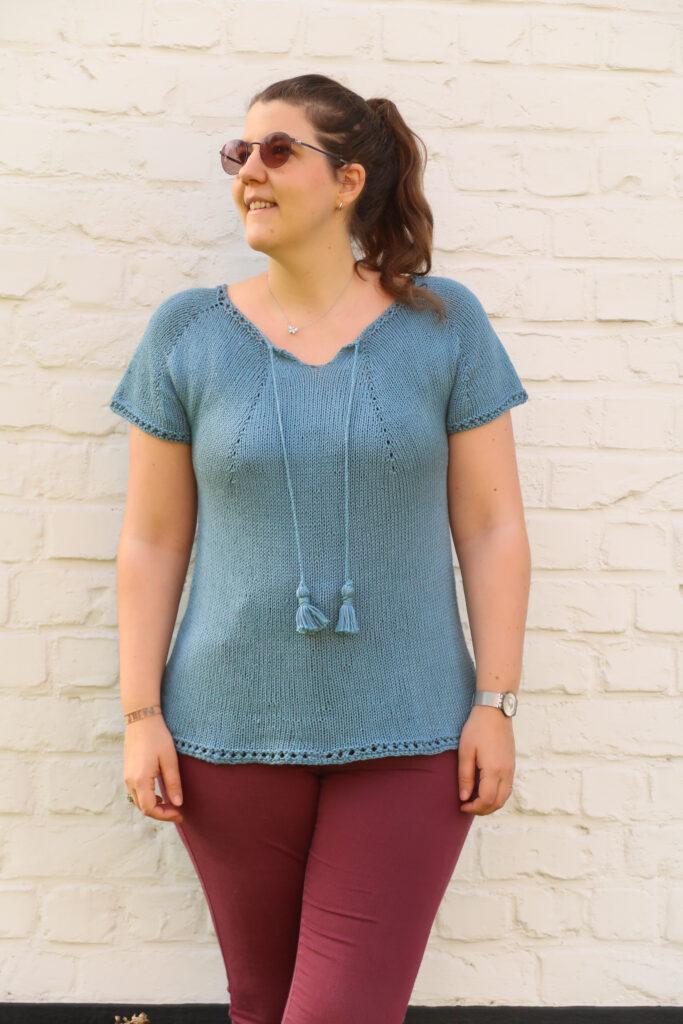 Juliet Knit summer top pattern