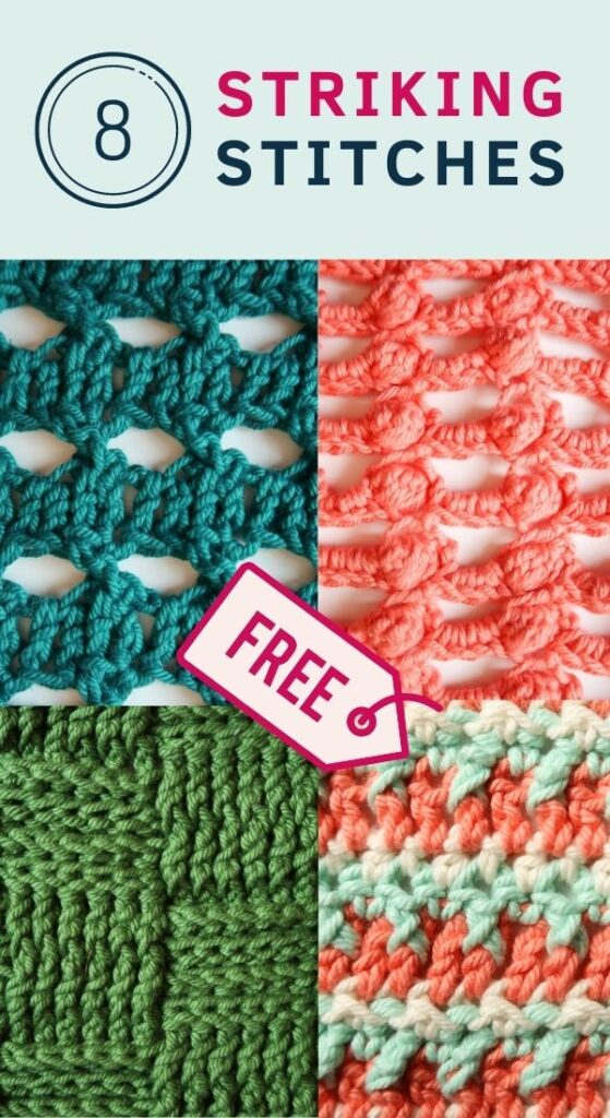 8 FREE Striking Stitch Crochet Patterns