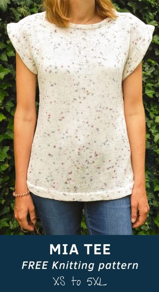 Mia Tee Knitting Pattern FREE