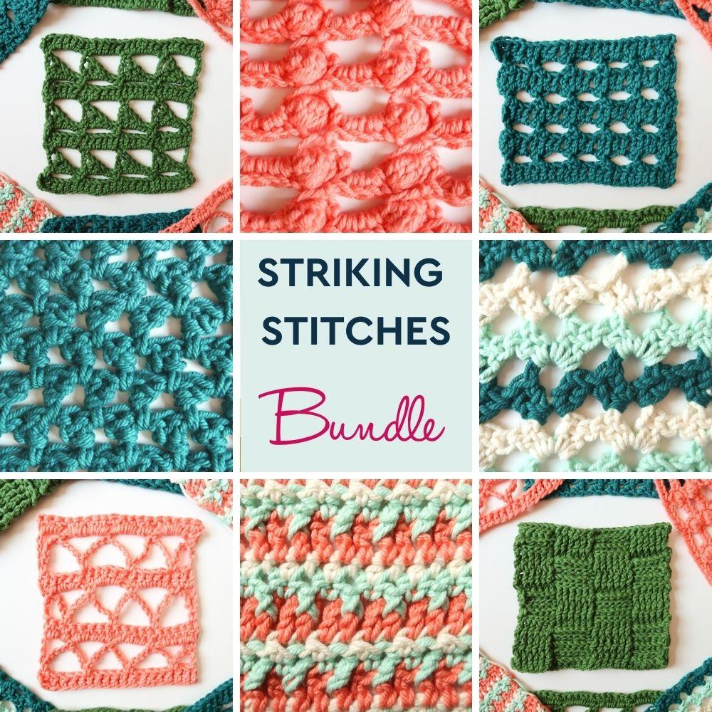 Striking stitches crochet pattern bundle