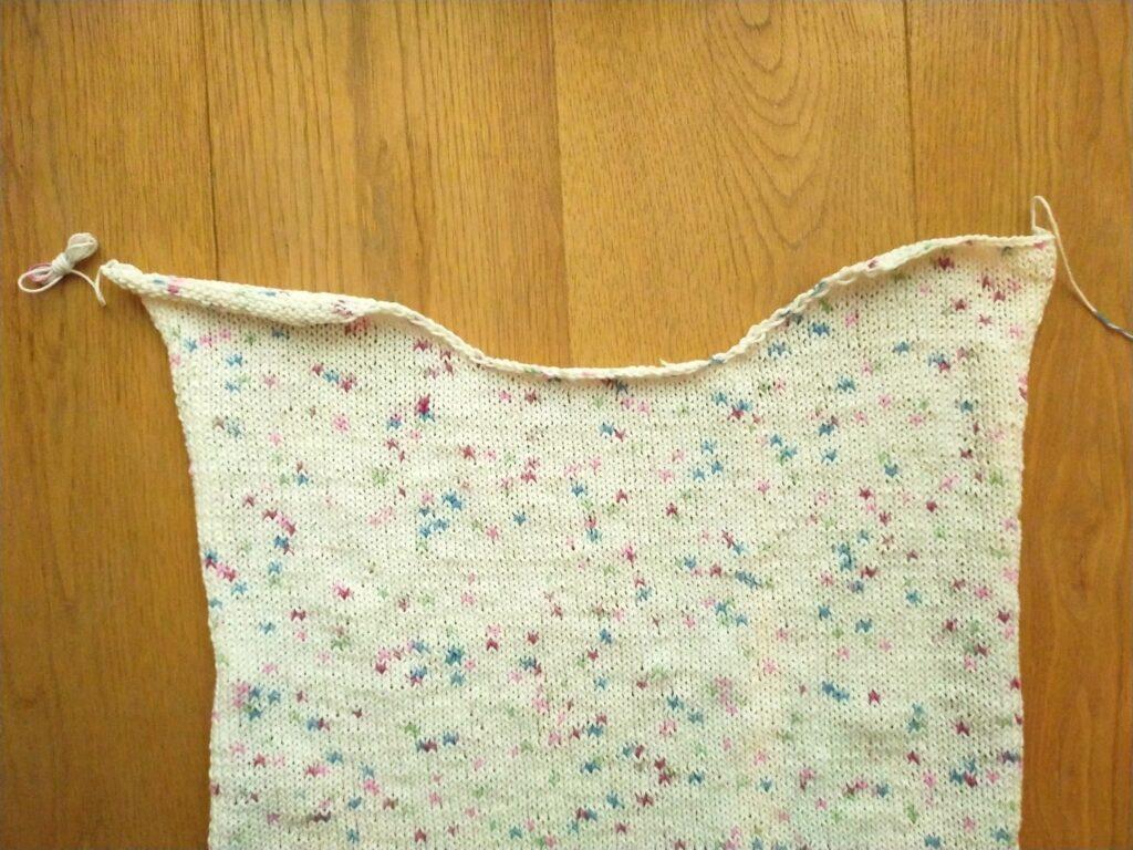 Finished tee knitting pattern panel