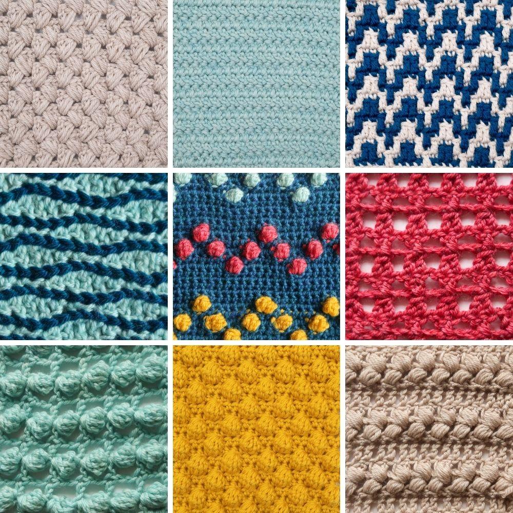 Spring Stitches CAL crochet stitch tutorials