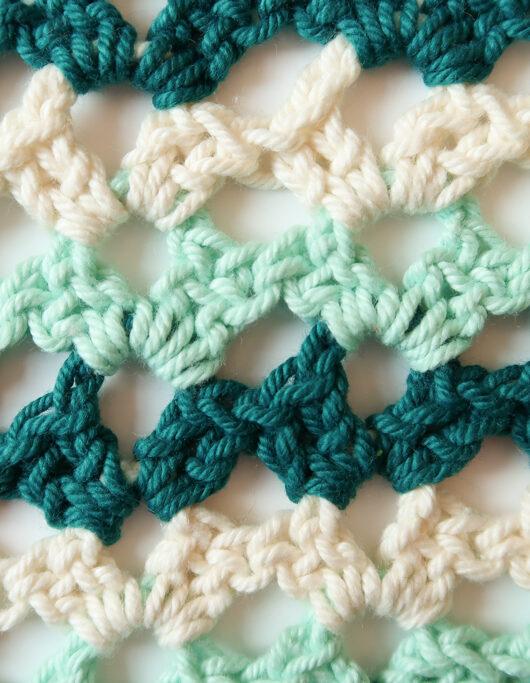 broken shell stitch crochet pattern