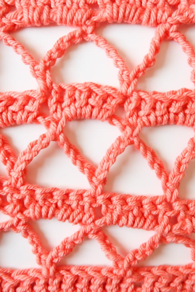 open mesh crochet stitch pattern