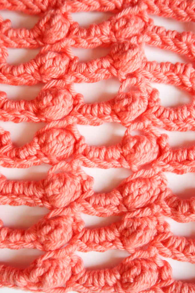 Bobble bridge crochet stitch pattern