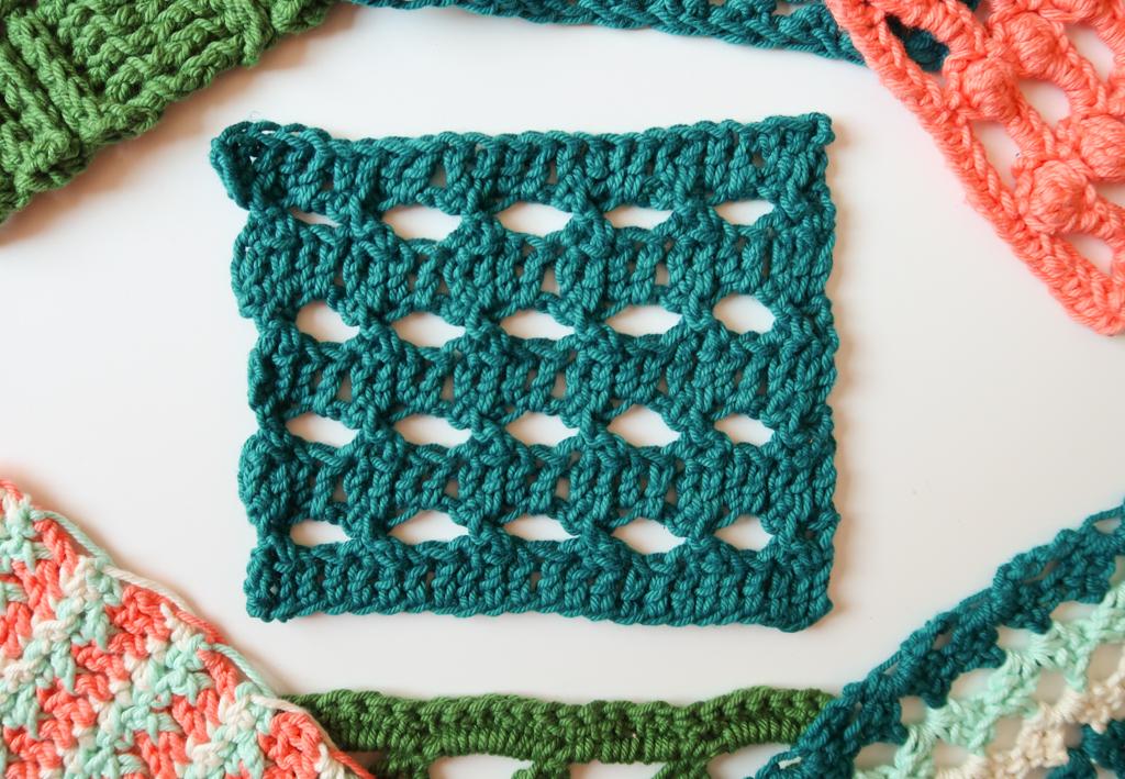 O eyelets open crochet stitch pattern