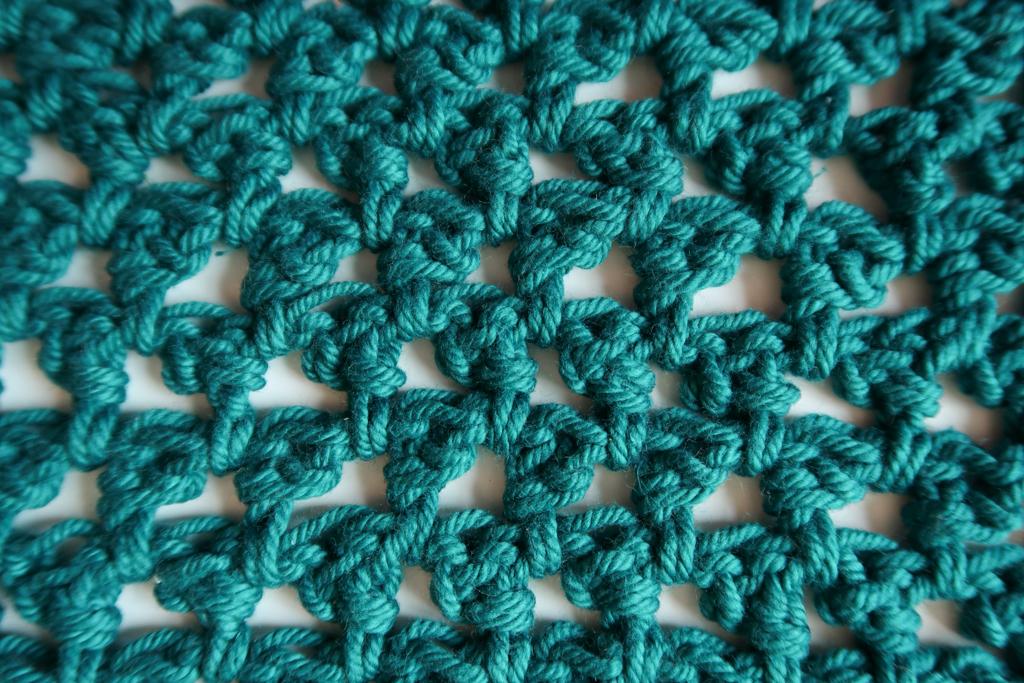 mini triangles crochet stitch pattern